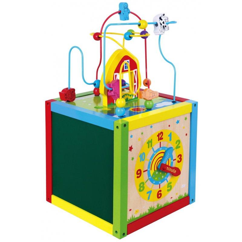Drewniana Edukacyjna kostka Sześcian 5w1 Viga Toys  Tekst pochodzi ze strony https://brykacze.pl/drewniana-edukacyjna-kostka-szescian-5w1-viga-toys-6901.html?search_query=viga+sorter&results=6 Prawa autorskie brykacze.pl